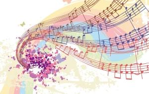 Música colorida.