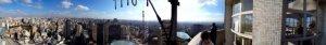 Esse é o nosso mundo. Incrível foto panorâmica da vista 360º lá do topo.