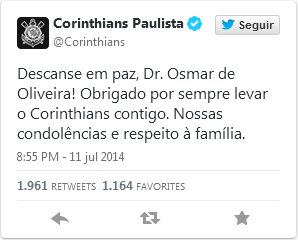 Homenagem do Corinthians ao eterno torcedor