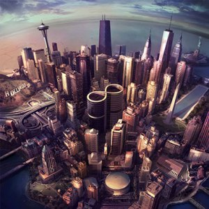 "Capa divulgada do disco ""Sonic Highways"""