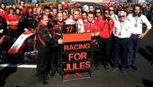 Homenagem da Marussia para Jules Bianchi (Foto: Getty Images)
