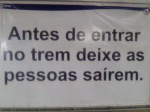 Placa na estação Palmeiras Barra Funda - CPTM.